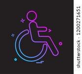 handicapped icon design vector   Shutterstock .eps vector #1200271651