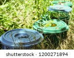 chemical containers were left... | Shutterstock . vector #1200271894