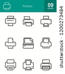 email   printer line icons | Shutterstock .eps vector #1200273484