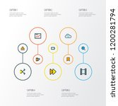multimedia icons colored line... | Shutterstock .eps vector #1200281794