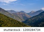 landscape view of Tassefsaft mountains peak in Malbou Bejaia, algeria at a beautiful summer day