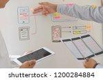 web designer teamwork concept...