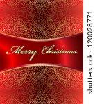 merry christmas vector card | Shutterstock .eps vector #120028771