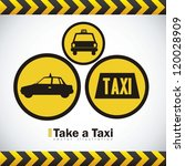 illustration of taxi icons ... | Shutterstock .eps vector #120028909