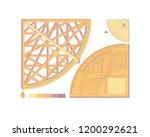 geometric shape. measuring...   Shutterstock .eps vector #1200292621