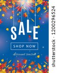 autumn sale template with... | Shutterstock . vector #1200296524