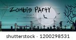 zombie party lettering with... | Shutterstock .eps vector #1200298531