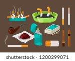 fight against bad habits ... | Shutterstock .eps vector #1200299071