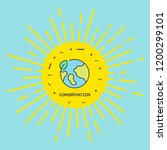 conservation colored icon... | Shutterstock .eps vector #1200299101