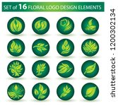 vector stylish floral logo  ... | Shutterstock .eps vector #1200302134