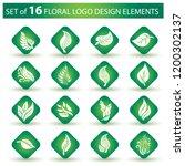 vector stylish floral logo  ... | Shutterstock .eps vector #1200302137