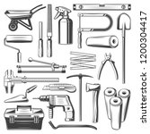 work tools icons. carpentry ... | Shutterstock .eps vector #1200304417
