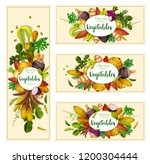 vegetables and exotic farm... | Shutterstock .eps vector #1200304444