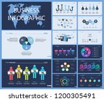 set of planning or strategy... | Shutterstock .eps vector #1200305491