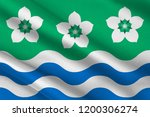 flag of cumberland is a... | Shutterstock . vector #1200306274