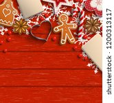 christmas background with... | Shutterstock .eps vector #1200313117