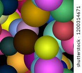 colorful spheres 3d seamless... | Shutterstock . vector #1200314671