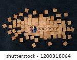 brexit concept   national flag...   Shutterstock . vector #1200318064