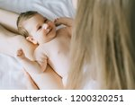 partial view of mother playing... | Shutterstock . vector #1200320251