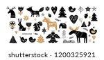 christmas illustrations  banner ... | Shutterstock .eps vector #1200325921