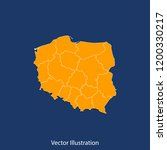 poland map   high detailed... | Shutterstock .eps vector #1200330217
