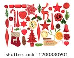 christmas symbols with tree... | Shutterstock . vector #1200330901