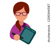 flat vector icon of computer... | Shutterstock .eps vector #1200344587