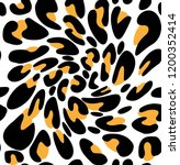 seamless leopard print  leopard ... | Shutterstock . vector #1200352414