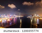 scenery of hong kong at... | Shutterstock . vector #1200355774