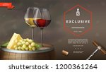 realistic winemaking background | Shutterstock .eps vector #1200361264