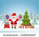 new year and christmas winter...   Shutterstock .eps vector #1200363607