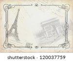 paris theme illustration | Shutterstock . vector #120037759