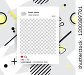 trendy editable template for... | Shutterstock .eps vector #1200389701