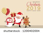 merry christmas and happy new... | Shutterstock .eps vector #1200402004