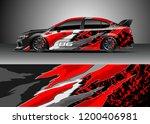 racing car wrap design vector.... | Shutterstock .eps vector #1200406981