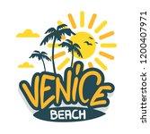 venice beach los angeles...   Shutterstock .eps vector #1200407971