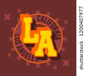 los angeles california  label...   Shutterstock .eps vector #1200407977