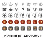 hotel icons pack vector   royal ... | Shutterstock .eps vector #1200408934