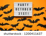 halloween party lightbox... | Shutterstock . vector #1200411637