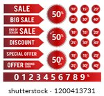 sales banner vector icons   red ... | Shutterstock .eps vector #1200413731