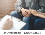 psychologist talking with... | Shutterstock . vector #1200423637