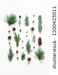 christmas composition.... | Shutterstock . vector #1200425011