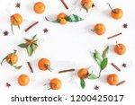 christmas composition.... | Shutterstock . vector #1200425017