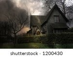 haunted house in london | Shutterstock . vector #1200430