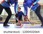 Curling. The Curling Team Play...
