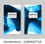 set of vector business card...   Shutterstock .eps vector #1200442714