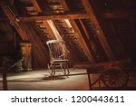 Old Rocking Chair In Rustic...