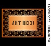 art deco border frame template... | Shutterstock .eps vector #1200460051