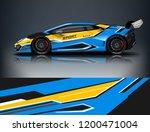 racing car wrap design. sport... | Shutterstock .eps vector #1200471004