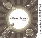 retro space theme background... | Shutterstock .eps vector #120047869